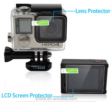 New Lcd Screen Protector + Waterproof Housing Case Lens Protective for GoPro Hero 4