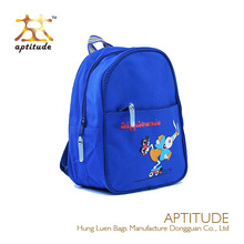 2014 Wholesale Blue Polyester Cartoon kids School Bags