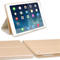 For iPad Case 2 Folios Leather Smart Cover for Apple iPad mini air 1/2/3/4/5/6 with Built-in Stand