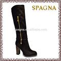 dama de la moda de alta de la rodilla booots del alto talón botas de mujer de invierno vestido nuevo diseño botas