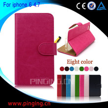 Small MOQ For Apple Iphone 6 Case, For iphone 6 Leather Case With Card Slots, Leather Case For Iphone 6