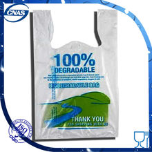 China factory HDPE t-shirt reusable plastic shopping bags with well printing