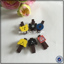 Cute Animal Wooden Clips Spring-type Wood Clothespin