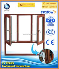 Energy saving wood alu window aluminium double glazed window