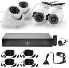 4CH DVR Security System & HD 1000 tvl IR Kamera Cctv Camera Set
