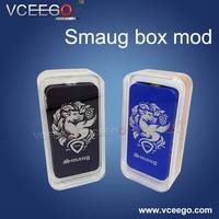 2015 latest design 1:1 clone smaug box mod with dual 18650 battery various colour