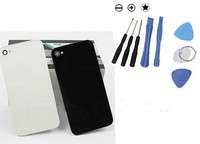 20 pcs a lot black white replacement back housing rear case bttery cover case door for iphone 4