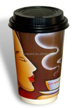 Healthy Hot Drink Coffee paper cup with lids