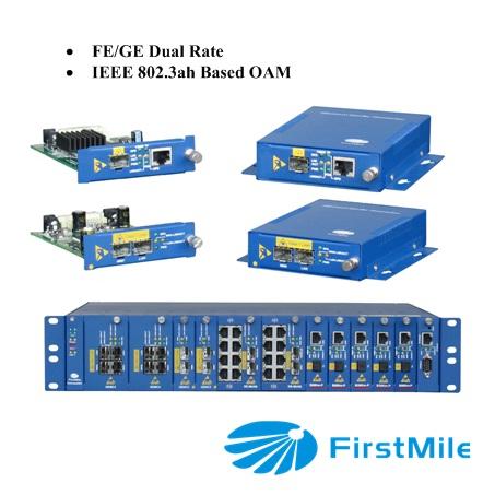100 Mbps / 1000 Mbps medios convertidor de la fibra Dual