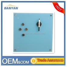 Glass memo pad, glass memo board, frameless glass notice board