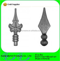 cast iron fence finials/Cheap ornamental Wrought Iron spearhead for sale