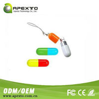 usb flash disk auto boot 4gb medical promotional usb flash drive Plastic Cover