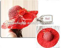flower straw hat summer lady beach hat