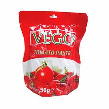 56g standing sachet tomato paste pouch tomato paste tomato sauce 28-30%