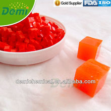 Orange cubic crystal soils for decoration