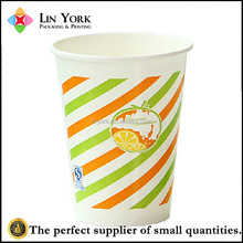 2015 popular design disposable hot drinking coffee tea paper cup
