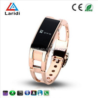 2015 Fashion lady watch bluetooth smart bracelet watch D8 with steel strap