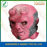 X-MERRY Helboy Realistic Head Latex Adult Deluxe Party Appealing Hero Red Face Mask