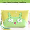 Manufacturer cute cartoon print pu cosmetic bag for ladies