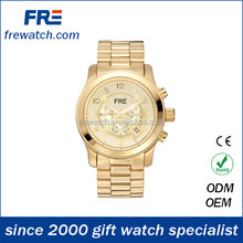 zinc alloy quartz wrist watch for gent fashion alloy watch with japan movement