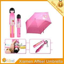 Hot Sale Durable Ladies Pink Cute folding umbrella Rain for Women Kids