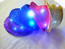New design panama cap with built-in led lights party cap and hat