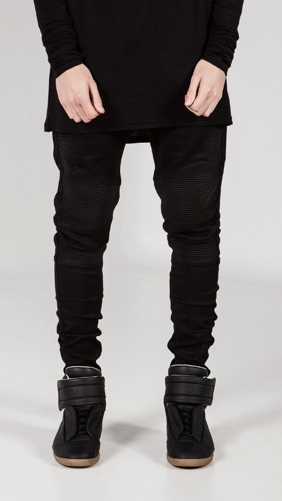 gro handel lager schwarz grau blau herren biker skinny jeans f r m nner schlanken elastischen. Black Bedroom Furniture Sets. Home Design Ideas