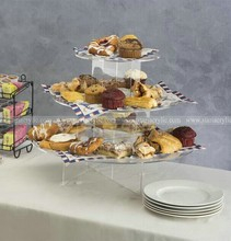 Lucite cake display table , 3 Tier Round Acrylic Cake Shelves