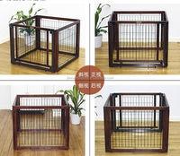 wood square foldable/adjustable home rail pet railing dog rails, indoor/outdoor pet railing design pet rails