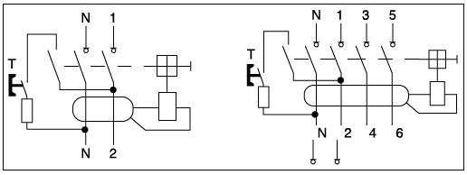 4 pole id model rccb elcb rcd 16a 400v residual