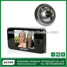 househould ,home use 3.5inch digital door viwer door bell automatically take photo