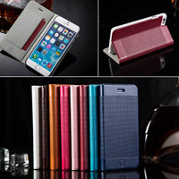 For iPhone6 Luxury Slim Stand Phone Case, for iphone 6 Flip PU Leather Case, for Apple iPhone 6 Wallet TPU Case Cover Skin Slim