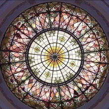 European/ Asia Dome metal frame stained glass skylight roof