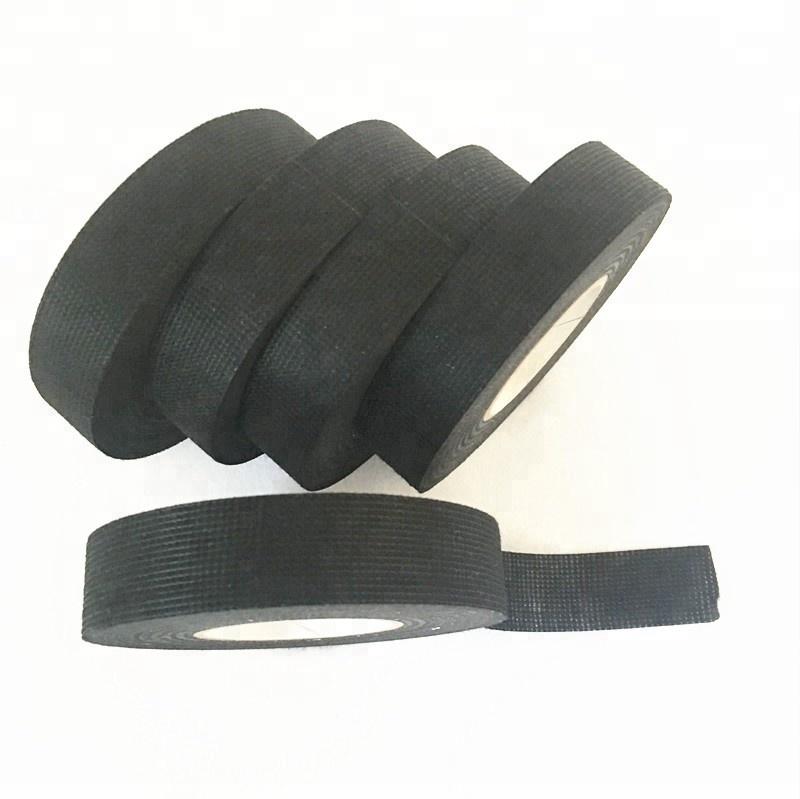 Tela de algodón negro aislamiento eléctrico cinta aislante
