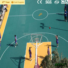 Modified PP Interlocking Modular Flooring For Badminton / Basketball / Volleyball Court