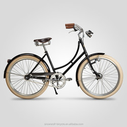 lady vintage bicycle netherlands bike dynamo hub vintage bike for women