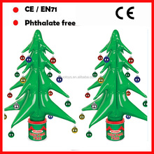 PVC inflatable decorated christmas trees with logo