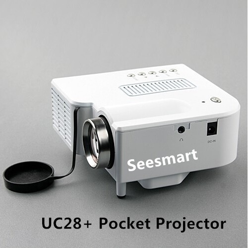 Cheap mini projector uc28 home theater 1080p 320 240pixels for Cheap mini portable projector