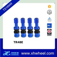 Aluminum Bolt-in High Pressure Tubeless Wheel Tire Valve Stems With Dust Cap