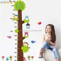 colorcasa ZYCD003 cartoon animals wall stickers growth chart home wall decoration accessories