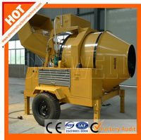mobile high quality JZR500 hydraulic tipping system diesel concrete mixer from Daswell Machinery