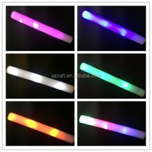 LED FOAM GLOW STICKS light up tube baton wand flashing blinking nightclub party
