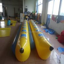 2015 Amusing Double Tubes Banana Boat For Sale / Inflatable Flying Banana Boat