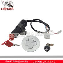 high quality Motorcycle LOCK SET for TORNADO ,combined ignition switch and steering lock,1pcs side cover lock