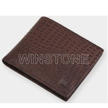 Executive Style Leather Wallet with Metal Money Clip