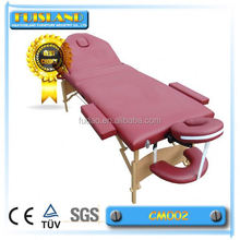 Thai spa wooden adjustable massage table/massage bed/massager chair
