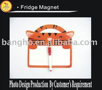 Paper fridge magnet writing pad with pen