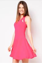 nuevo 2014 pink tiras cortas vestidos de graduación