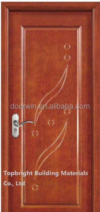 Simple exterior carved pine wood veneer main door design