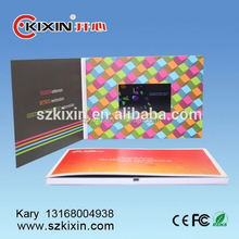 Latest hot selling lcd video advertising brochure fashion video greeting card